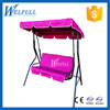China Alibaba OEM Rose Color Garden Swing, Outdoor Garden Swing Chairs Manufacturers