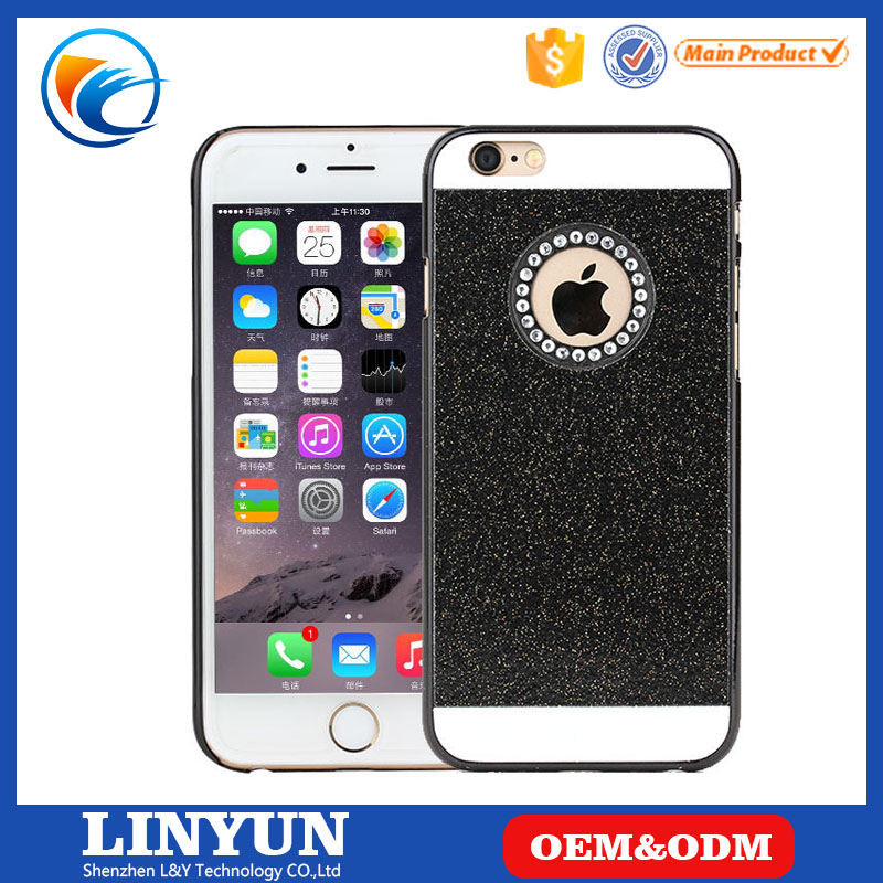 PC hard case crystal bling liquid phone case For iPhone 6, liquid glitter case cover for iphone 6