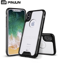 high quality slim armor tpu acrylic transparent case for iphone x phonecase