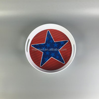 Round star new design handled melamine fruit trays for parties