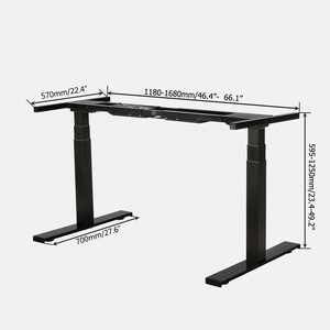 electric adjustable desk Height adjustable table frame Standing desk Sit to Stand with Dual Motor 3 Stage Up Lift