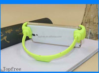 Promotional rotating adjustable funny cell phone holder for desk