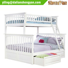 Kids White Bunk Bed with Storage