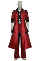 Newest Devil May Cry IV 4 Dante Cosplay costumes mens halloween suit adult anime game christmas clothes custom made