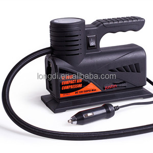 Portable car air compressor 12V DC mini design