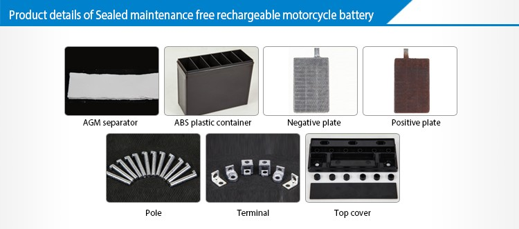 12V 4Ah Sealed Maintenance Free 100CC Motorcycle Battery For Honda Spare Parts.jpg