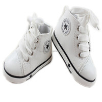 2016 spirng Children canvas shoes male female child sports white shoes WARRIOR new arrived baby children
