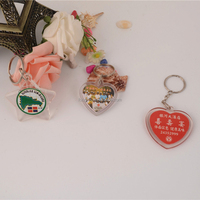 Wholesale pink heart shape key chain/acrylic photo frame keychain/custom keychain maker