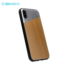 Alloy + Cherry wooden custom diy phone case for iphone x tough mobile phone case cover, slim tpu shockproof