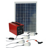 20W portable solar energy system with 4 bulbs, mobile phone charger