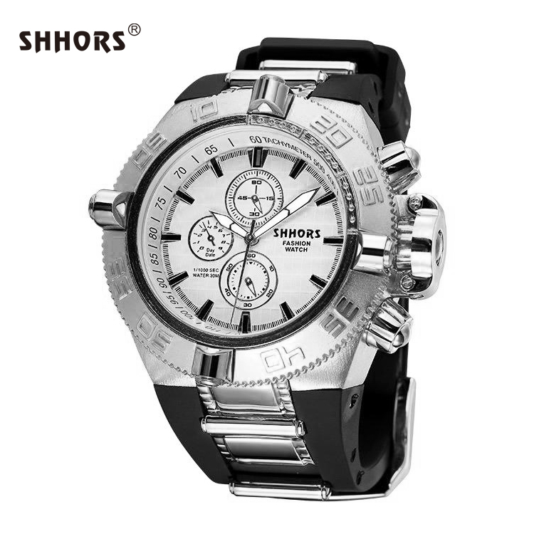 SHHORS So Cool Luxury Stainless Steel Japan Movt Quartz Watch sr626sw