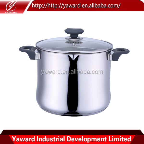 Hot Selling stainless steel Stockpot with Glass Lid
