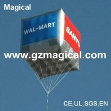 Trade show square inflatable balloon/ inflatable cube balloon