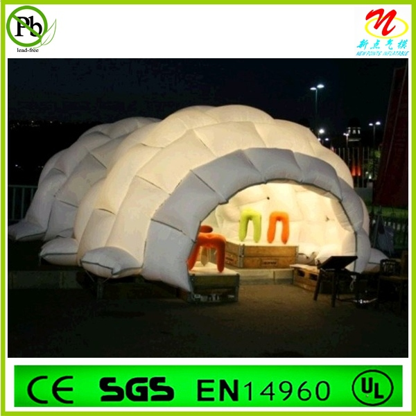 romantic led outdoor inflatable tunnel dome tent for sale