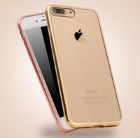 Luxury soft electroplate tpu cover for iphone 7
