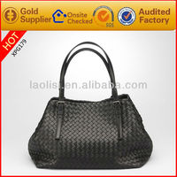 New style woven leather bags women authentic designer handbag wholesale