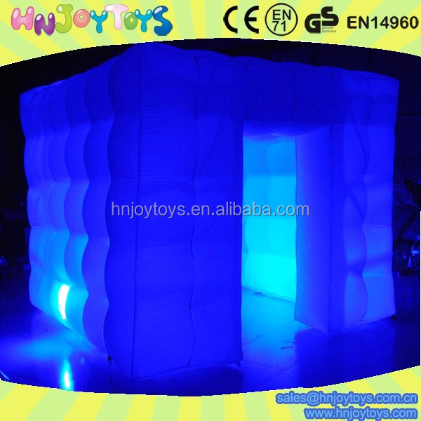 Cheap commercial LED inflatable photo booth for advertising photo booth inflatable for party