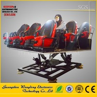 5D Cinema Theatre Motion Seats with 6 DOF Hydraulic Motion Platform for racing simulator