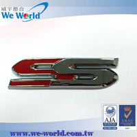 Steady quality color injection chrome finish die cast metal badge