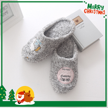 Free sample cute women pvc slipper with soft fur