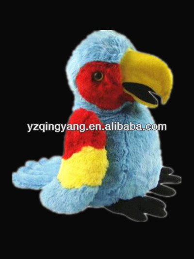New arrival stuffed animal cute and likelike soft plush parrot toy for good sale