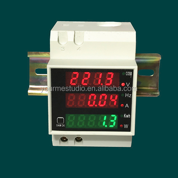 Frequency meter power meter D52-2058 digital display AC voltage ammeter