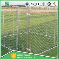 chain link wire dog fence / outdoor large portable dog cage