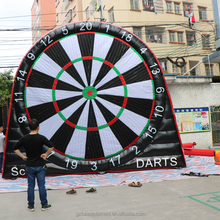 New giant outdoor inflatable football soccer dart board kick game
