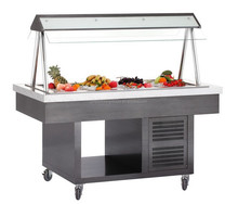 new color stainless steel salad bar equipment for display fruit and vegetables Guangzhou manufacturer
