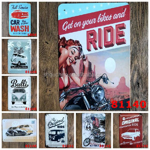 No MOQ Original Ride Car Wash Route 66 Tin Signs vintage Metal Sign Painting Decor Wall Of Bar Cafe Pub Shop Restaurant