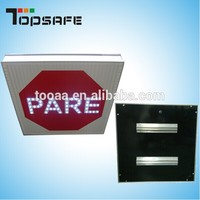 Round Solar led traffic warning light
