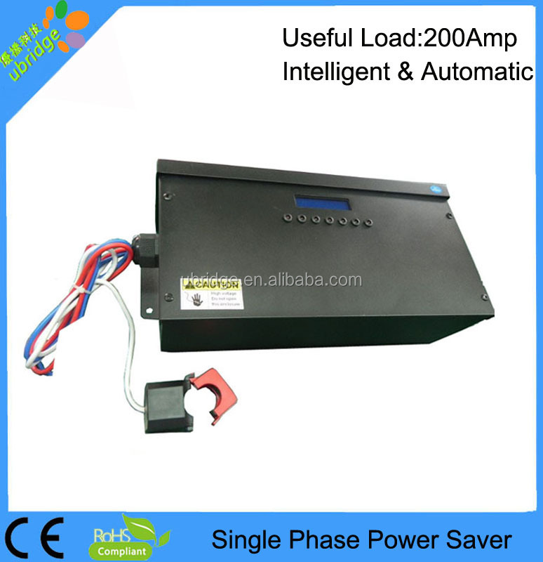 Power Saver for commercial use full automatic single phase energy saver device with LCD display