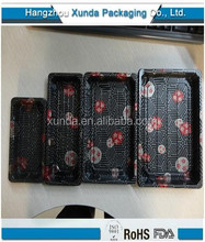 Disposable PS plastic take away japanese sushi box / japanese sushi tray/ food tray box