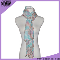 New Design Digital Print Custom Design Twill Silk Scarf Manufacturer