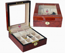 11pcs with acrylic window wooden wrist watch storage box