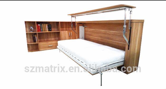 horizontal lit escamotable murphy bed avec ordinateur de bureau pliable lit escamotable lit. Black Bedroom Furniture Sets. Home Design Ideas