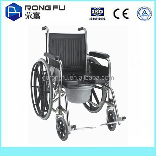 patient used manual wheelchair with self lock