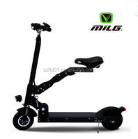 2016 foldable adult electric motorcycle/self balancing electric scooter/e-bike with double disc brakes