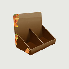 Customized supermarket paper display show box