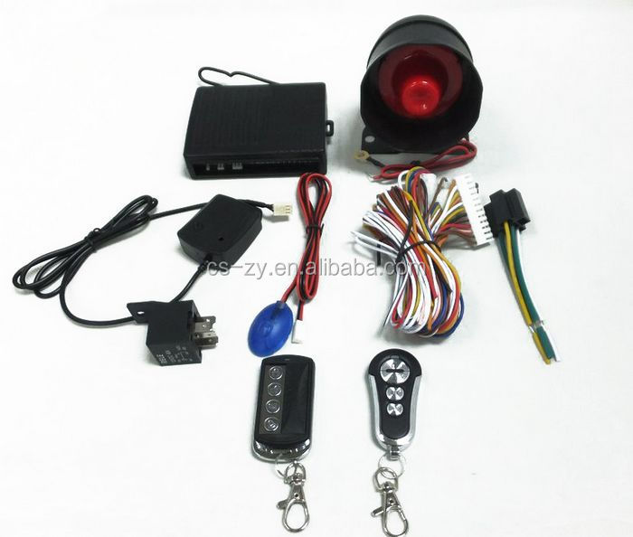 one way wireless car alarm system with remote