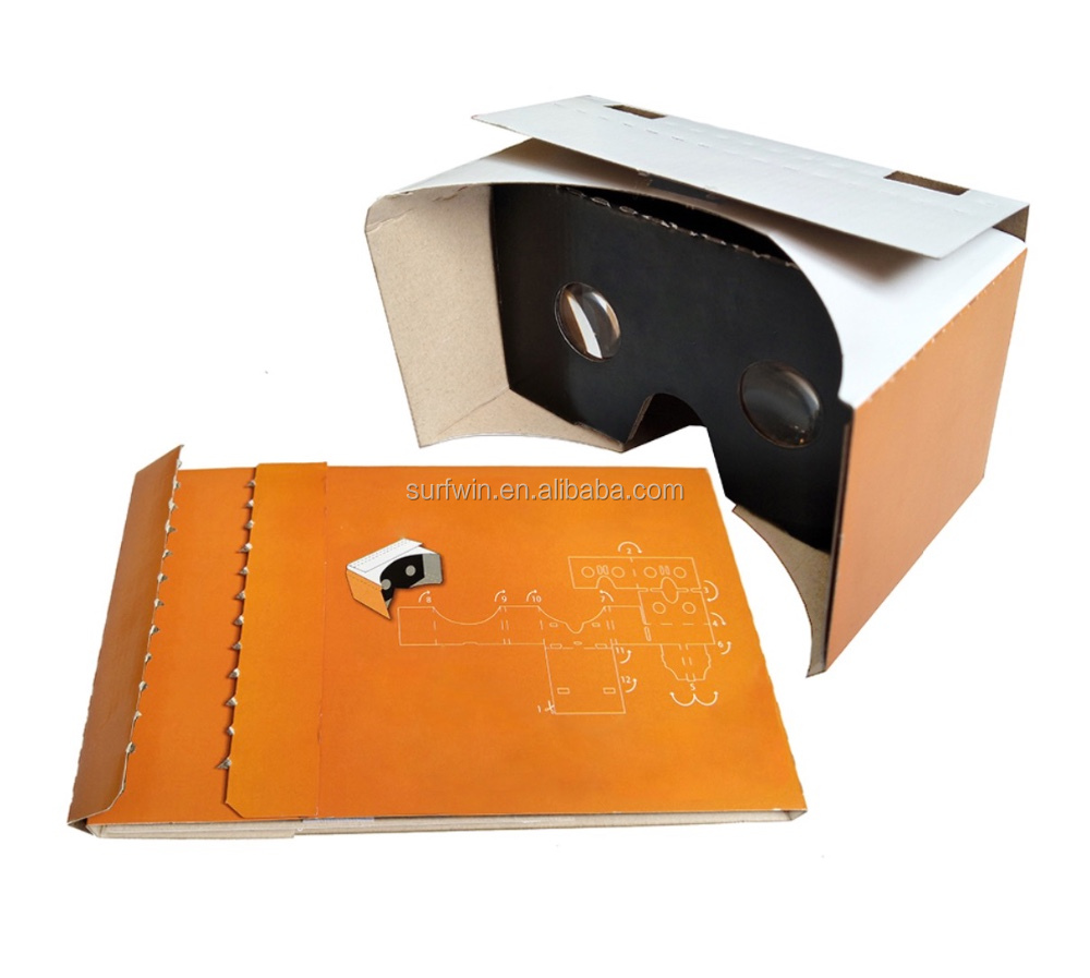 2017 25mm dia.lens VR cardboard viewer VR headset 3D vr glasses