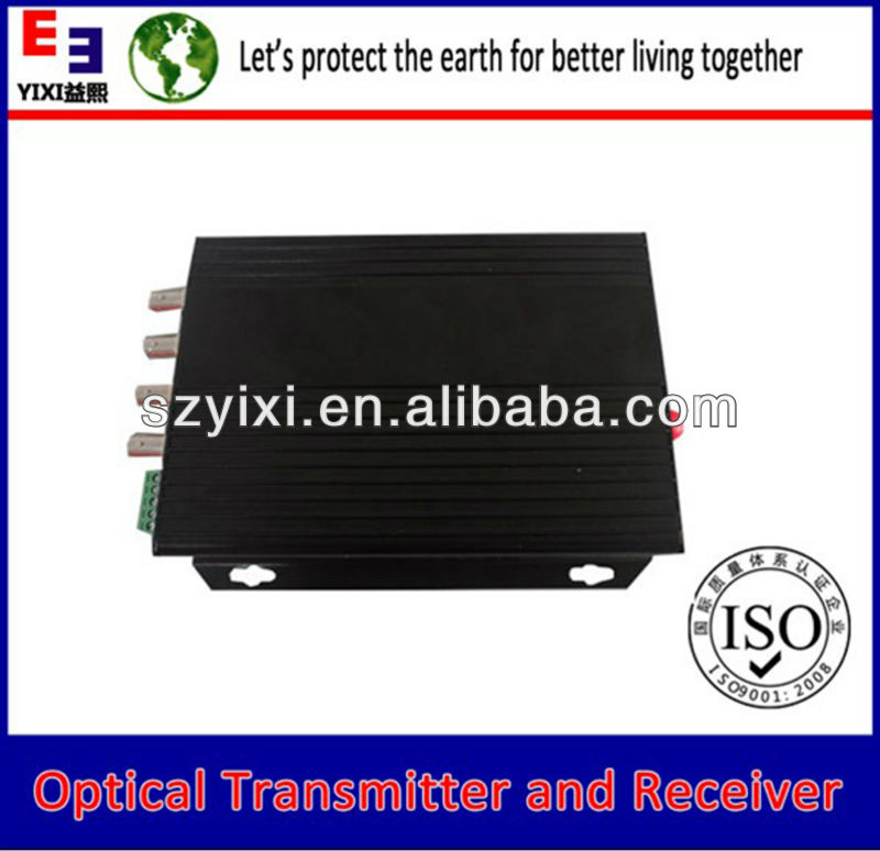 4 -channel digital video optical transmitter and receiver