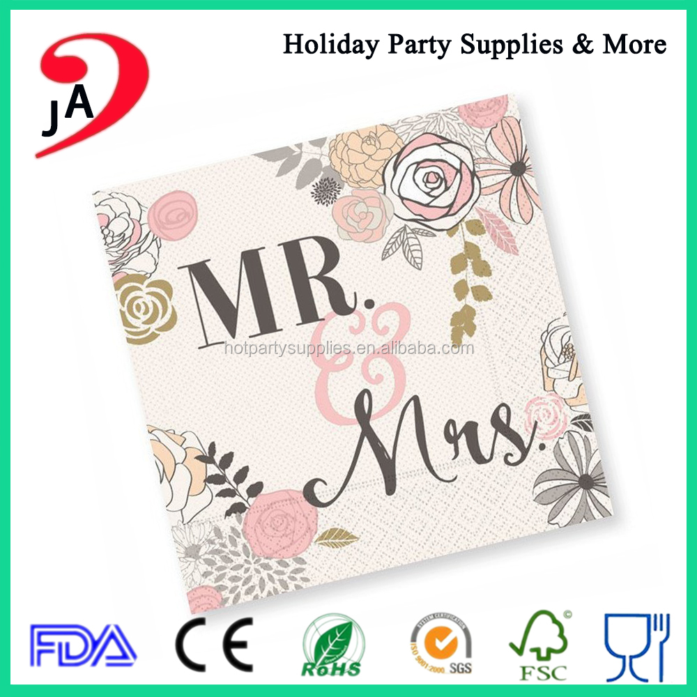 Wholesale Cheap Price Folding Tissue Decorative Party Paper Dinner Napkins