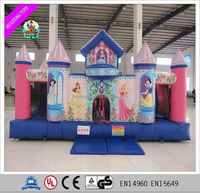 2016 hot sale inflatable princess bouncy castle for sale, inflatable jumping castle, inflatable bounce hosue for kids.