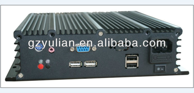 YULIAN Aluminum housing Embedded industrial Automation box pc/Intel N2600