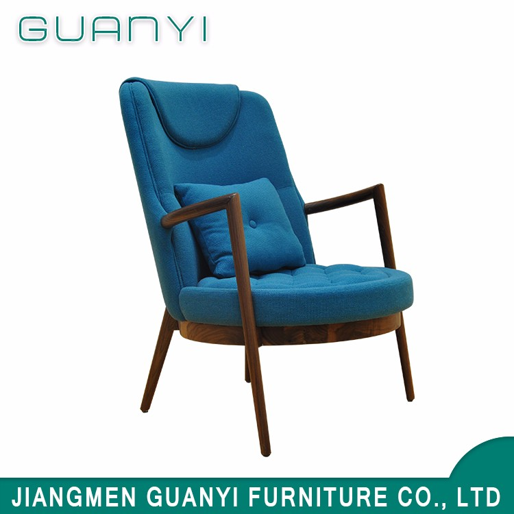 Newest design furniture chair Blue fabric cover modern lounge chair