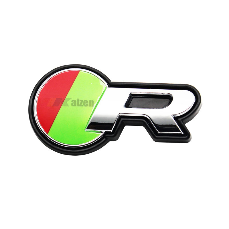 R Logo Car Grille Front Emblem for Jaguar XKR XJR XFR XJ XK R Type Grill Car Badge