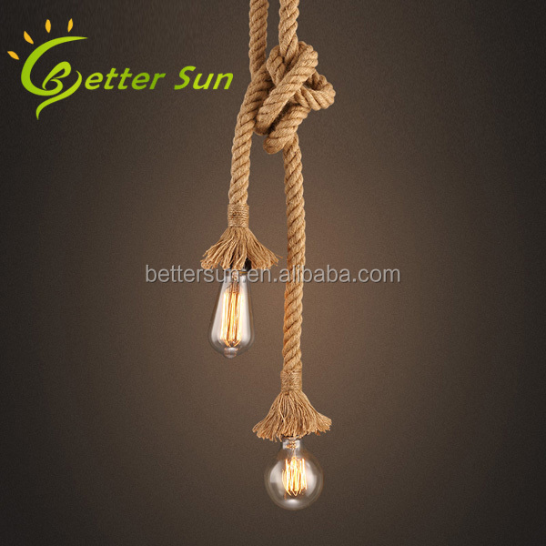 Creative Diy Hemp Rope Pendant Light For Home Buy Hemp