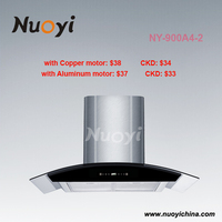 Low noise kitchen range hood,Kitchen Chimney exhaust with led lighting