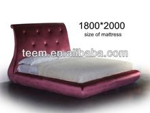New Type Bed 2013 Hot Sale furniture with deco paint